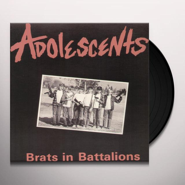 Adolescents BRATS IN BATTALIONS Vinyl Record - Limited Edition, Reissue