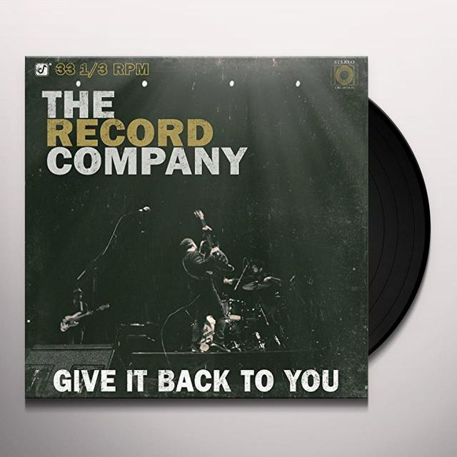 RECORD COMPANY GIVE IT BACK TO YOU Vinyl Record