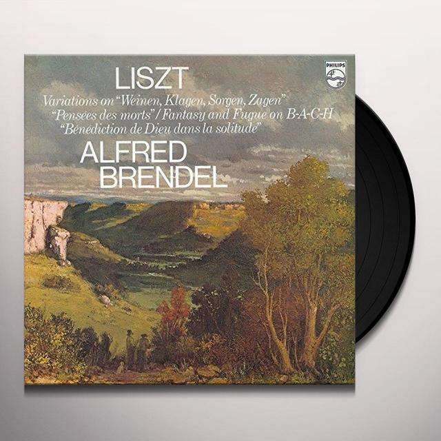 Alfred Brendel;Franz Liszt FANTASIA & FUGUE ON BACH / VARIATIONS ON WEINEN Vinyl Record