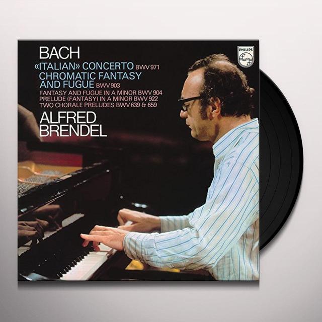 J.S. Bach / Alfred Brendel ITALIAN CONCERTO / CHROMATIC FANTASY & FUGUE ETC Vinyl Record