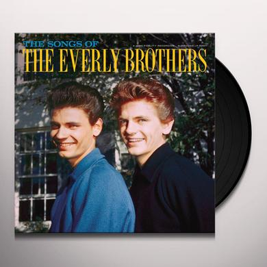 The Everly Brothers SONGS OF Vinyl Record - Gatefold Sleeve