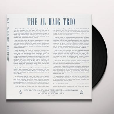 Al Haig Trio JAZZ WILL O THE WISP Vinyl Record