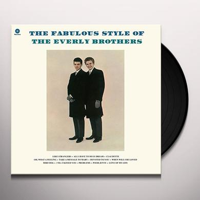 The Everly Brothers FABULOUS STYLE OF Vinyl Record - UK Release