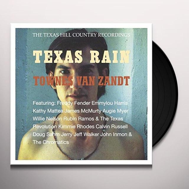 Townes Van Zandt TEXAS RAIN (LIMTED CLEAR VINYL) Vinyl Record