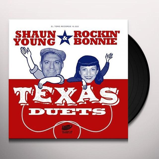 Shaun Young & Rockin Bonnie TEXAS DUETS Vinyl Record - Spain Import