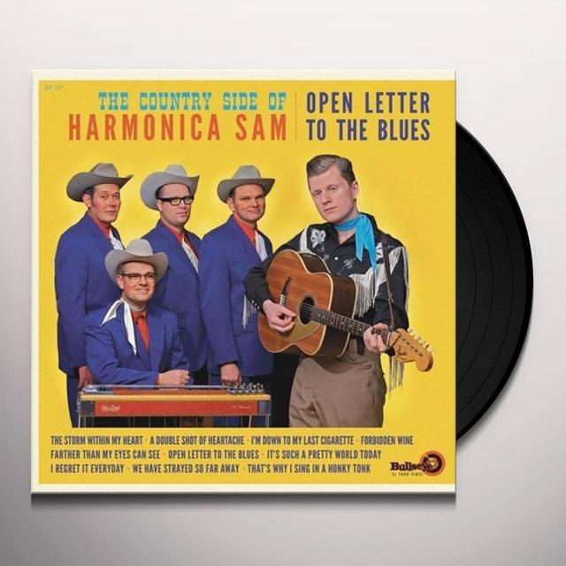 COUNTRY SIDE OF HARMONICA SAM OPEN LETTER TO THE BLUES Vinyl Record - Spain Import
