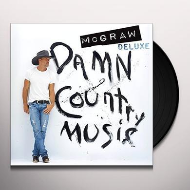 Tim McGraw DAMN COUNTRY MUSIC (BONUS TRACKS) Vinyl Record - Gatefold Sleeve, 180 Gram Pressing