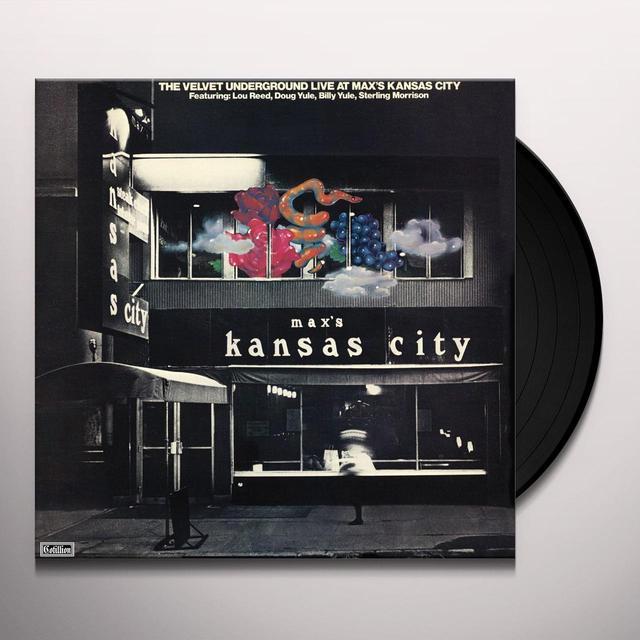 Velvet Underground LIVE AT MAX'S KANSAS CITY Vinyl Record - 180 Gram Pressing