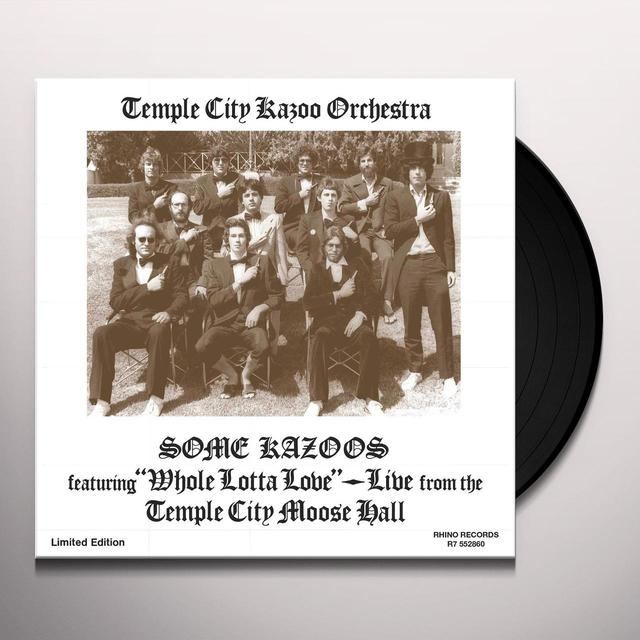 TEMPLE CITY KAZOO ORCHESTRA SOME KAZOOS Vinyl Record