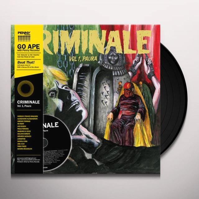 CRIMINALE VOL. 1 - PAURA / VAR CRIMINALE VOL. 1 - PAURA Vinyl Record - w/CD, Reissue
