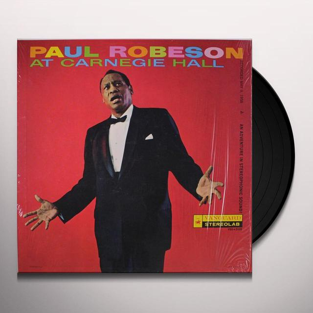 Paul Robeson AT CARNEGIE HALL Vinyl Record