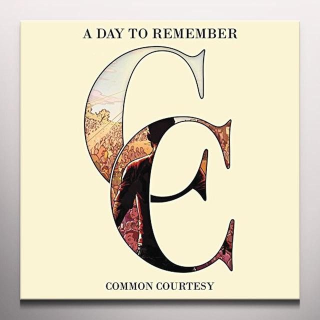 A Day To Remember COMMON COURTESY Vinyl Record - Blue Vinyl, Colored Vinyl, Gatefold Sleeve, Limited Edition