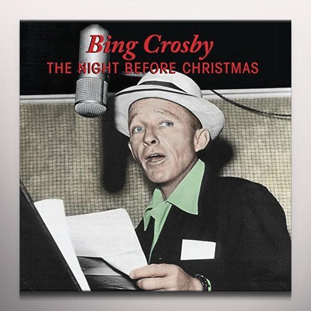 Bing Crosby & Kathryn NIGHT BEFORE CHRISTMAS Vinyl Record - 10 Inch Single, Colored Vinyl, Green Vinyl
