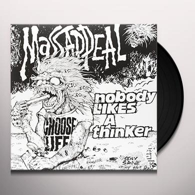 MASSAPPEAL NOBODY LIKES A THINKER (RED & BLACK SPLOTCHED) Vinyl Record