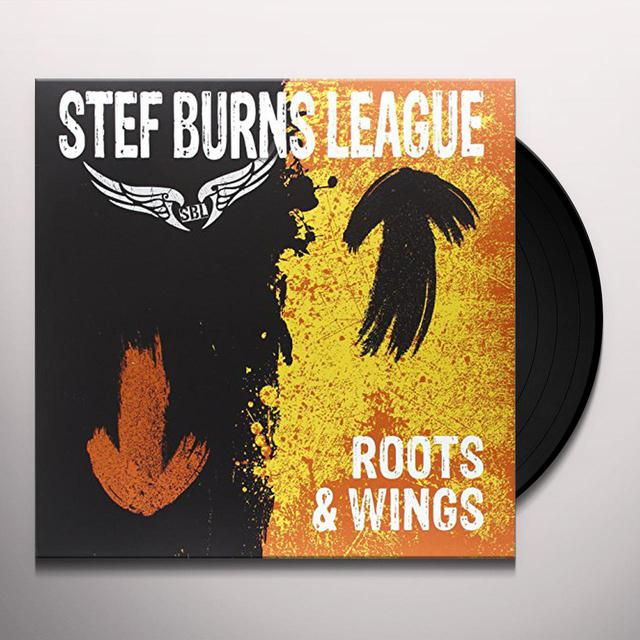 STEF BURNS LEAGUE ROOTS & WINGS (LP+CD) Vinyl Record