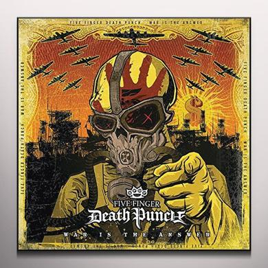 Five Finger Death Punch WAR IS THE ANSWER (BEER COLOURED VINYL) Vinyl Record - Colored Vinyl