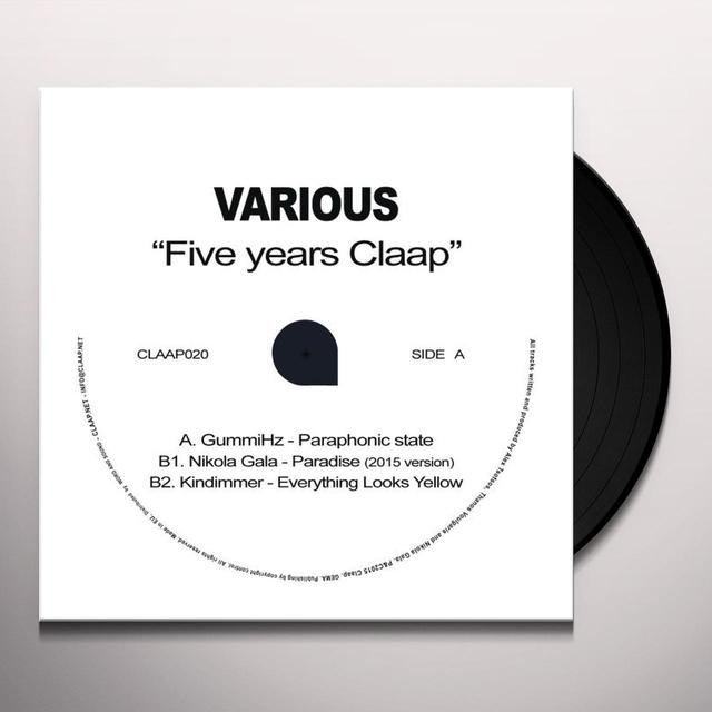 Gummihz / Nikola Gala / Kindimmer FIVE YEARS CLAAP Vinyl Record