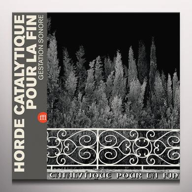 HORDE CATALYTIQUE POUR LA FIN GESTATION SONORE Vinyl Record - Colored Vinyl, Limited Edition, Red Vinyl