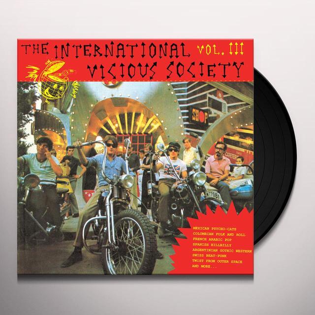 INTERNATIONAL VICIOUS SOCIETY VOL. III / VARIOUS Vinyl Record
