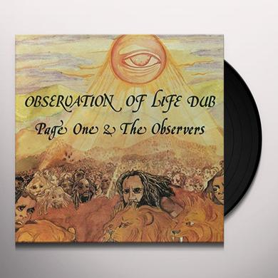 PAGE ONE & THE OBSERVERS OBSERVATION OF LIFE DUB Vinyl Record