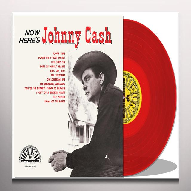 NOW HERE'S JOHNNY CASH Vinyl Record - Colored Vinyl, Limited Edition