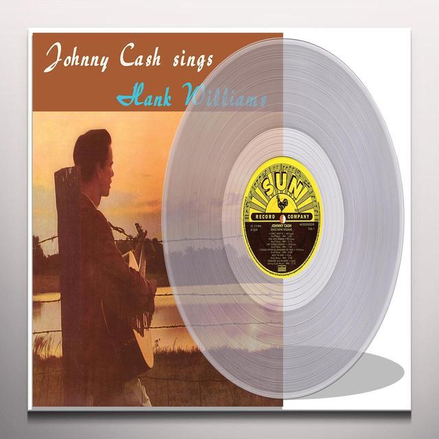 JOHNNY CASH SINGS HANK WILLIAMS Vinyl Record - Clear Vinyl, Limited Edition