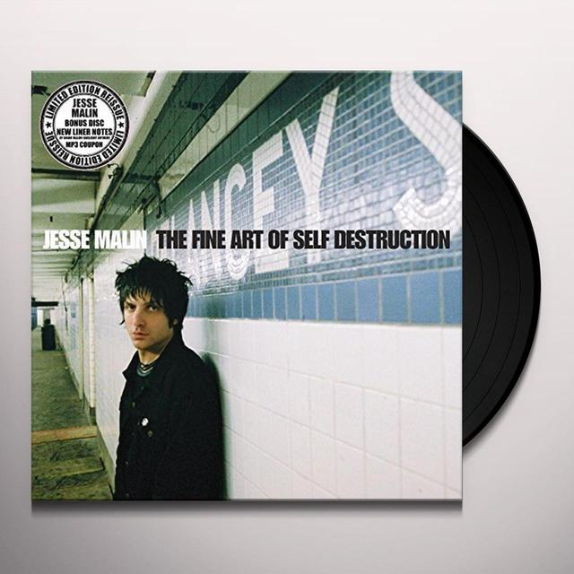 Jesse Malin FINE ART OF SELF DESTRUCTION Vinyl Record