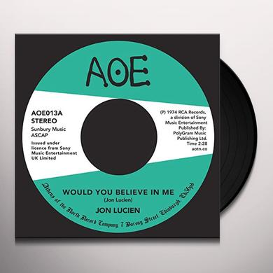 Jon Lucien WOULD YOU BELIEVE IN ME Vinyl Record - UK Import