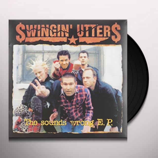 Swingin' Utters SOUNDS WRONG EP Vinyl Record - 10 Inch Single, UK Import