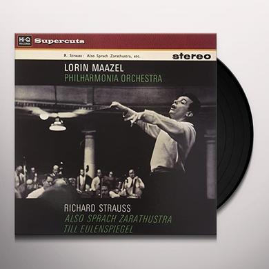Lorin Maazel & Philharmonia Orchestra RICHARD STRAUSS ALSO SPRACH ZARATHUSTRA Vinyl Record - 180 Gram Pressing
