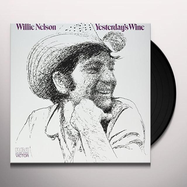 Willie Nelson YESTERDAY'S WINE Vinyl Record - 180 Gram Pressing