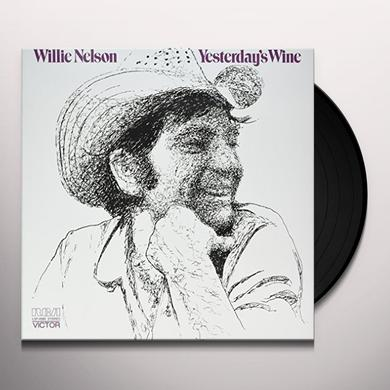 Willie Nelson YESTERDAY'S WINE Vinyl Record - 180 Gram Pressing