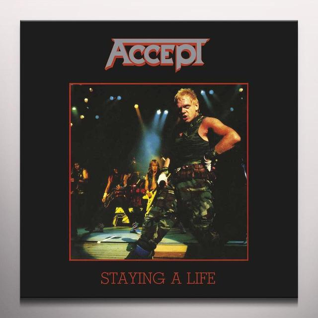 Accept STAYING A LIFE Vinyl Record - Colored Vinyl, 180 Gram Pressing, Red Vinyl, UK Import