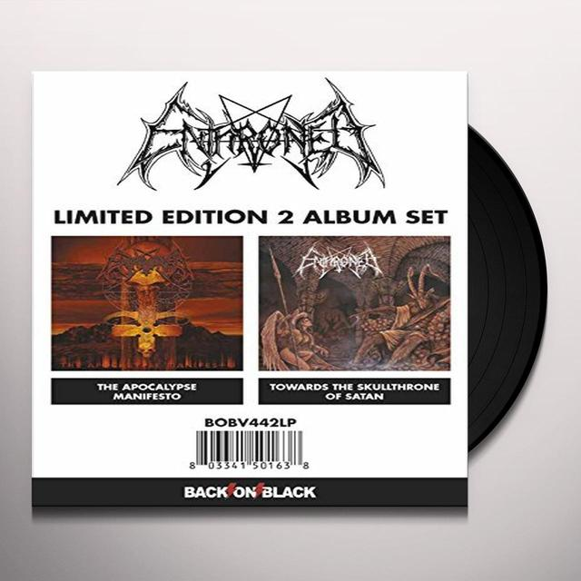 Enthroned APOCALYPSE MANIFESTO/TOWARDS THE SKULL THRONE OF Vinyl Record
