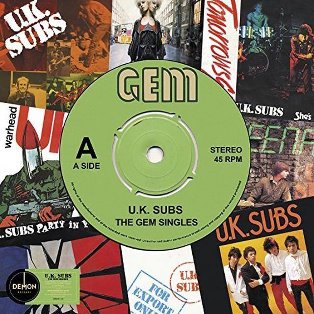 U.K. Subs GEM SINGLES Vinyl Record