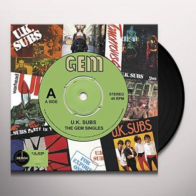 U.K. Subs GEM SINGLES Vinyl Record - UK Import