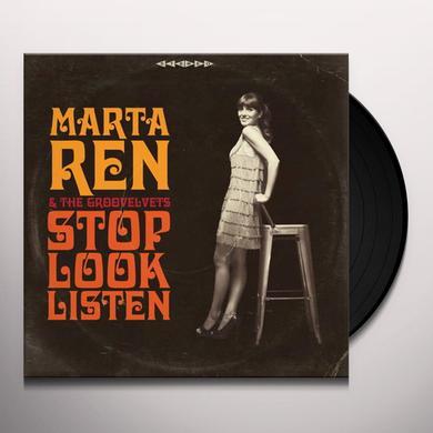Marta Ren & The Groovelvets STOP LOOK LISTEN Vinyl Record