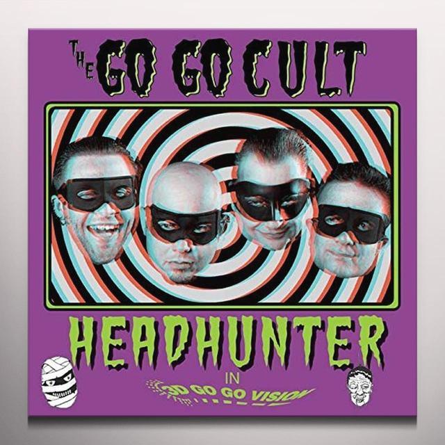 GO GO CULT HEAD HUNTER (PINK VINYL) Vinyl Record - 10 Inch Single, Colored Vinyl, Pink Vinyl, UK Import