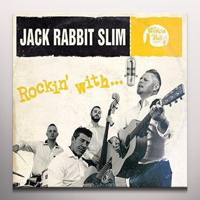Jack Rabbit Slim ROCKIN WITH (GOLD VINYL) Vinyl Record - 10 Inch Single, Colored Vinyl, Gold Vinyl, UK Import