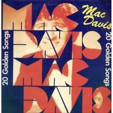 Mac Davis 20 GOLDEN SONGS Vinyl Record