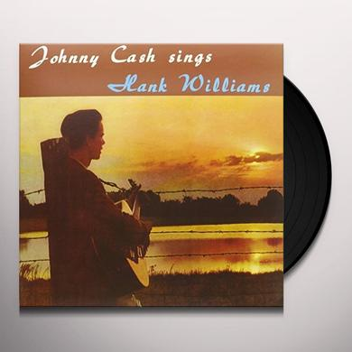 Johnny Cash SINGS HANK WILLIAMS Vinyl Record