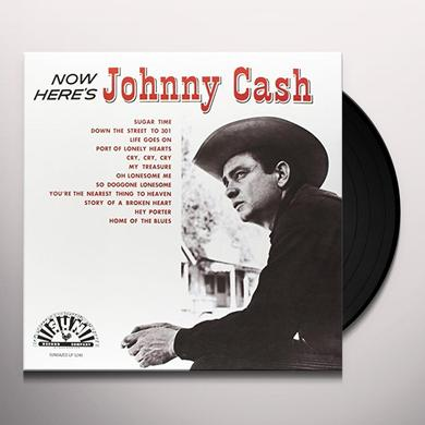 Johnny Cash NOW HERE'S JOHNNY Vinyl Record