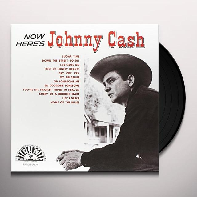 Johnny Cash NOW HERE'S JOHNNY Vinyl Record