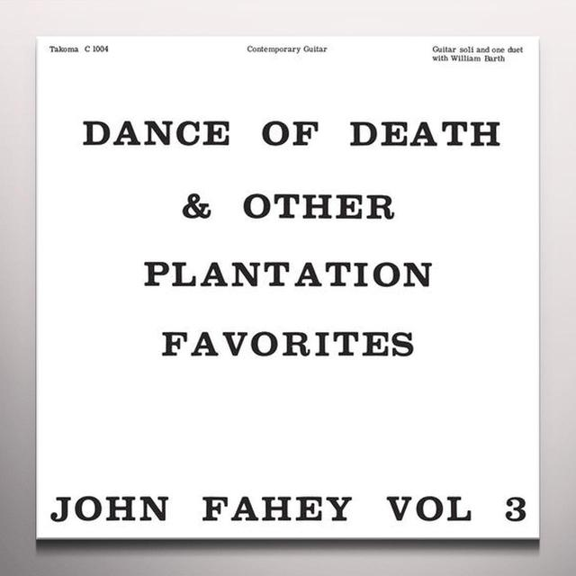 John Fahey DANCE OF DEATH & OTHER PLANTATION FAVORITES Vinyl Record