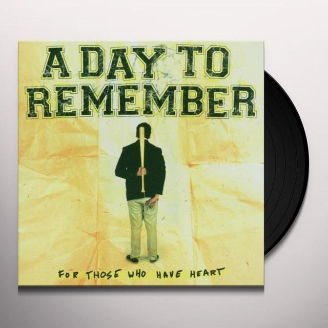 Day to Remember FOR THOSE WHO HAVE HEART Vinyl Record - Picture Disc