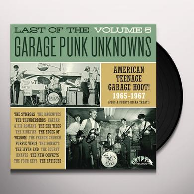 LAST OF THE GARAGE PUNK UNKNOWNS 5 / VARIOUS Vinyl Record