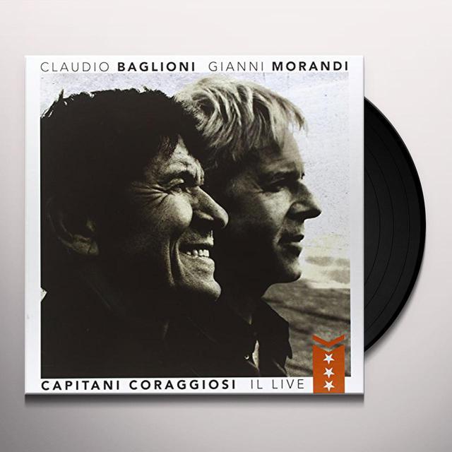 Claudio Baglioni & Gianni Morandi CAPITANI CORAGGIOSI: IL LIVE Vinyl Record - Italy Import