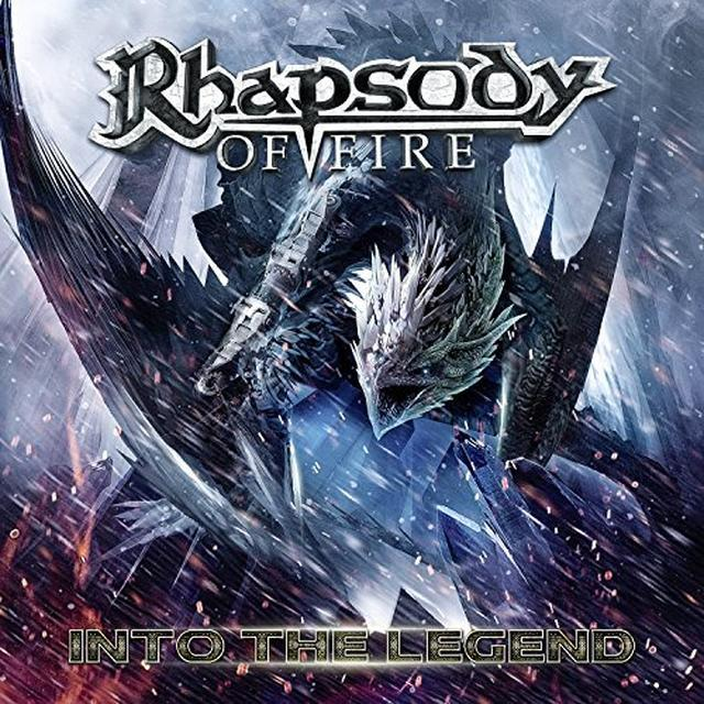 Rhapsody Of Fire INTO THE LEGEND Vinyl Record - Colored Vinyl, Gold Vinyl, Limited Edition, 180 Gram Pressing