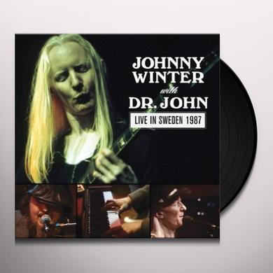 Johnny Winter & Dr. John LIVE IN SWEDEN 1987 Vinyl Record