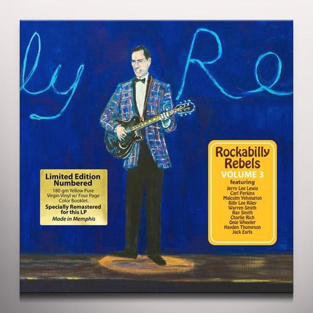 ROCKABILLY REBELS 3 / VARIOUS (COLV) (WB) ROCKABILLY REBELS 3 / VARIOUS  (WB) Vinyl Record - Colored Vinyl